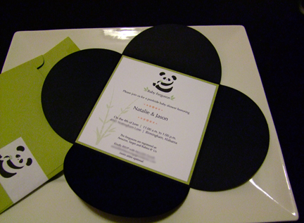 Panda Invitations | Bird and Belle's Adventures in Marriage